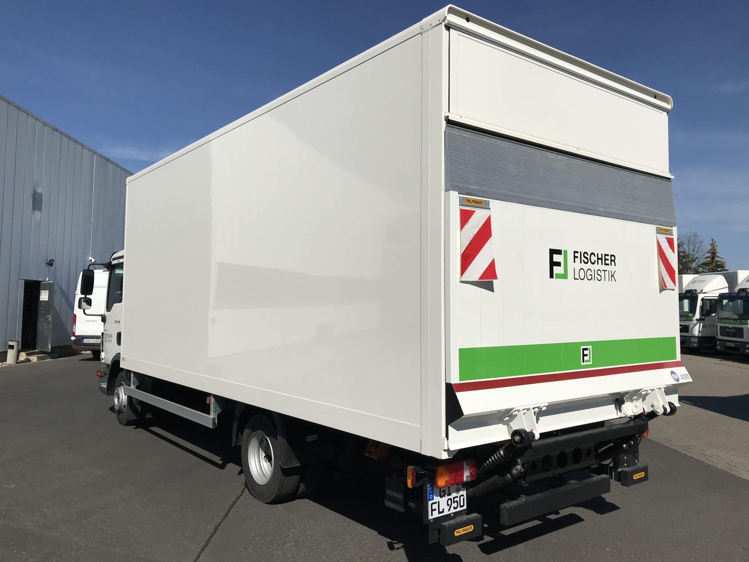 Vermietung LKW mit Kofferaufbau (7,5Tonnen) Fischer Logistik