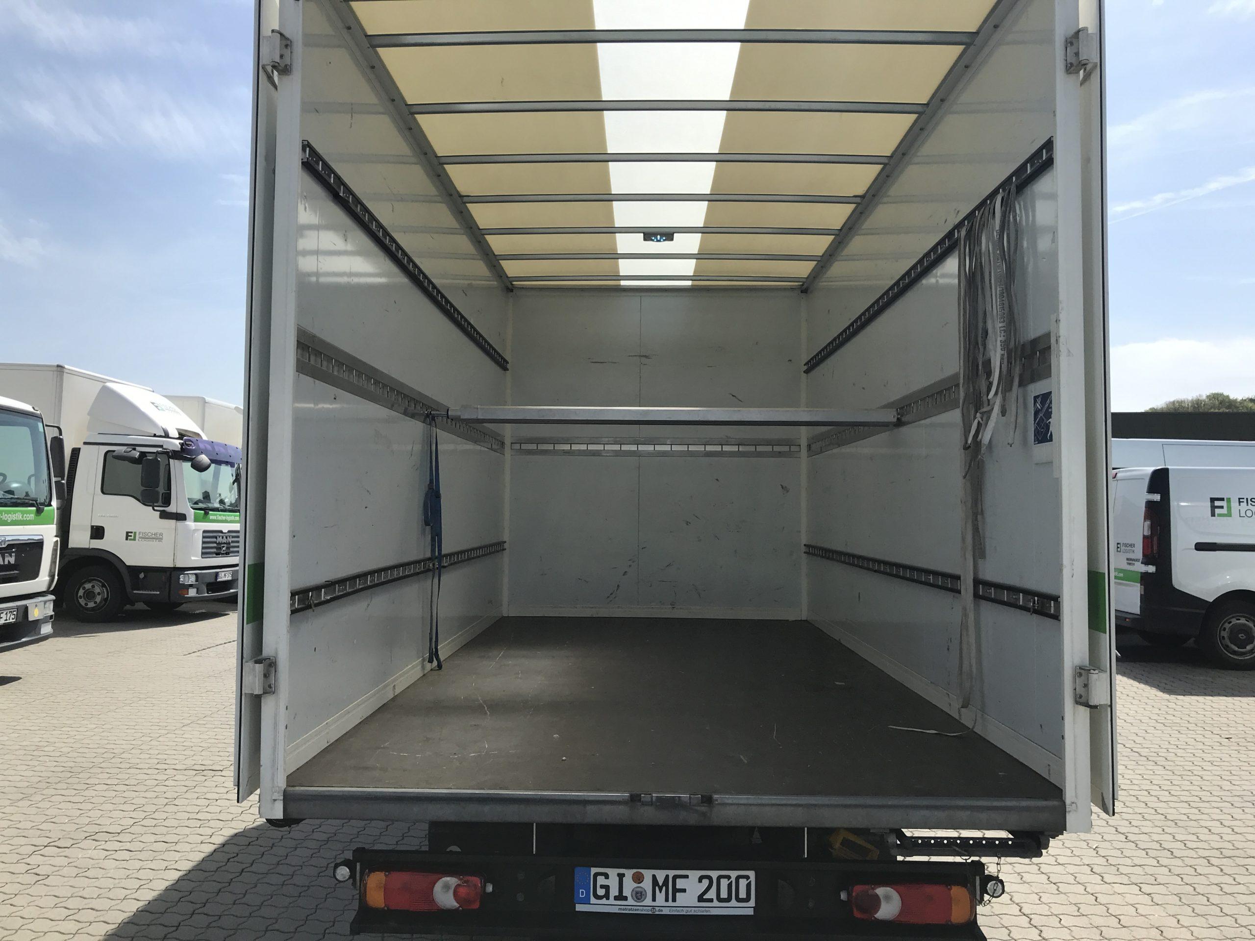 Vermietung LKW mit Kofferaufbau (3,5Tonnen) Fischer Logistik