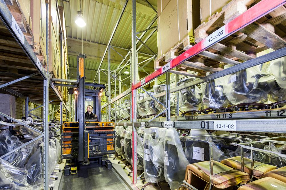 Hochregal Lagerung bei Fischer Logistik